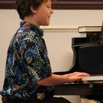 Griffin at piano